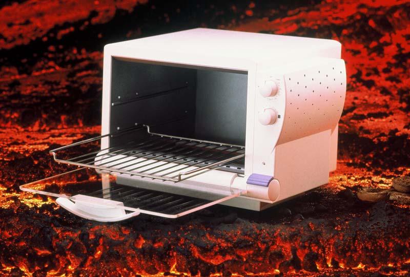 Sunbeam Oster Toaster Oven, 3/4 view with door open